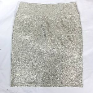 LulaRoe metallic gold pencil skirt